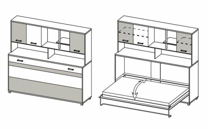 Мебель-трансформер своими руками: фото, чертежи, постель