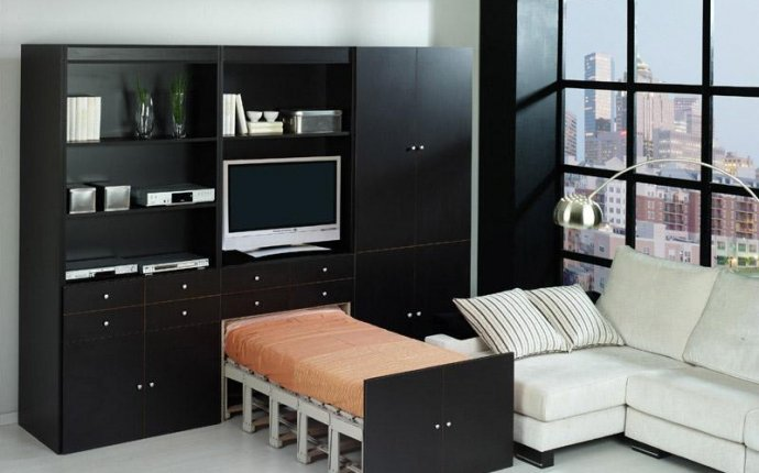 Современная мебель-трансформер в интерьере малогабаритной квартиры
